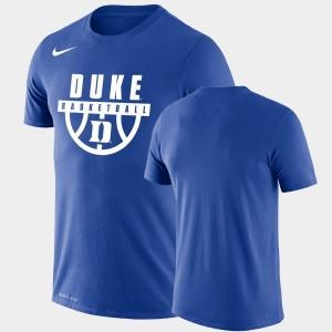 Performance Basketball Blue Devils Mens College T-Shirt Royal Drop Legend