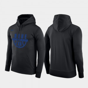 For Men Basketball Drop Circuit Black College Hoodie Pullover Duke Blue Devils