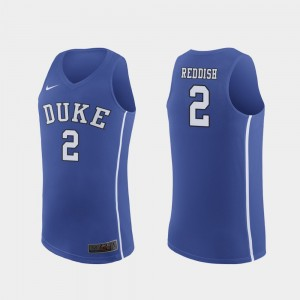 Cam Reddish College Jersey Authentic Royal Mens Duke University #2 March Madness Basketball
