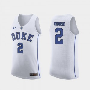 Authentic White March Madness Basketball Blue Devils #2 Cam Reddish College Jersey Mens