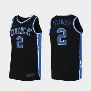 2019-20 Basketball Blue Devils Replica Black Mens #2 Cassius Stanley College Jersey