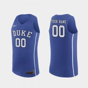 Men's Authentic Duke University March Madness Basketball College Customized Jerseys #00 Royal