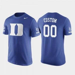 #00 Basketball Replica Men's Duke Blue Devils Royal Future Stars College Custom T-Shirt