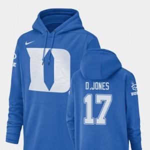Duke Blue Devils Royal Men Champ Drive Football Performance Daniel Jones College Hoodie #17
