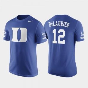 Basketball Replica Duke University Royal Javin DeLaurier College T-Shirt Future Stars #12 Mens