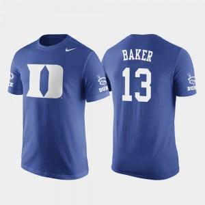 Joey Baker College T-Shirt #13 Basketball Replica Duke Mens Future Stars Royal