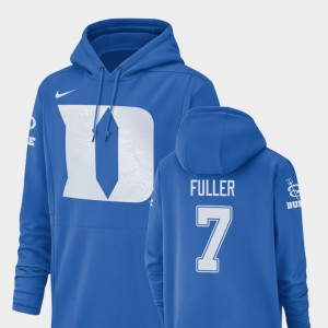 #7 Keyston Fuller College Hoodie Duke University Men Football Performance Champ Drive Royal