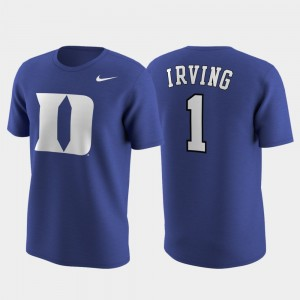 Royal Mens Replica Future Star Future Stars Blue Devils #1 Kyrie Irving College T-Shirt