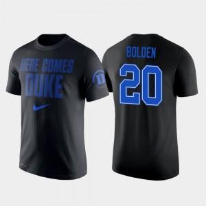 Duke Men Basketball Marques Bolden College T-Shirt Black #20 2 Hit Performance