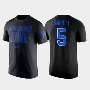 Basketball #5 Men's RJ Barrett College T-Shirt Duke Black 2 Hit Performance