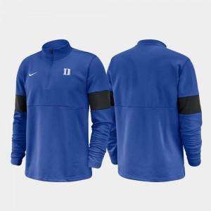 Duke University Half-Zip Performance Men 2019 Coaches Sideline College Jacket Royal