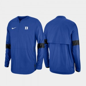 Blue Devils College Jacket For Men Quarter-Zip Royal 2019 Coaches Sideline