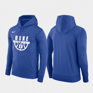 Royal Pullover Blue Devils Mens College Hoodie Basketball Drop Circuit