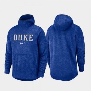 Spotlight Men Duke Blue Devils Basketball Team Logo Pullover College Hoodie Royal