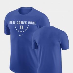 Royal Blue Devils For Men College T-Shirt Basketball Team