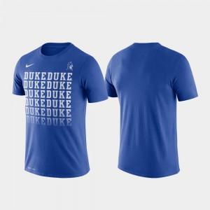 Men's College T-Shirt Blue Devils Performance Fade Royal