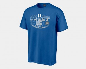 2018 March Madness Basketball Tournament Royal Sweet 16 Bound Blue Devils Men's College T-Shirt