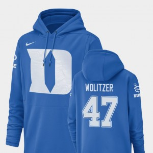 Ryan Wolitzer College Hoodie Champ Drive #47 Blue Devils For Men's Royal Football Performance