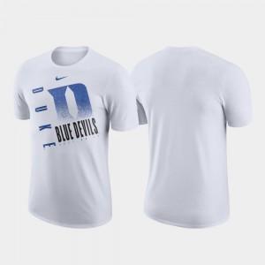 College T-Shirt Men's Duke White Just Do It Performance Cotton