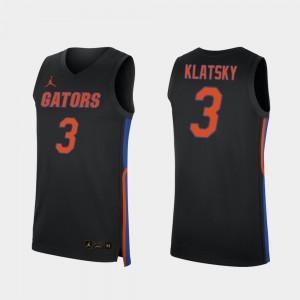 Alex Klatsky College Jersey Gator Black 2019-20 Basketball Replica #3 For Men's