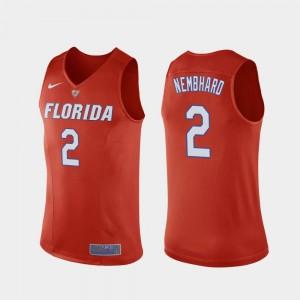 Andrew Nembhard College Jersey Mens Basketball University of Florida #2 Replica Orange