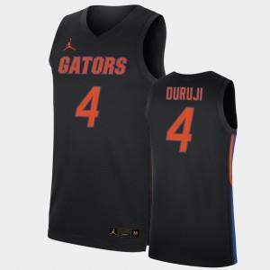 Black Anthony Duruji College Jersey Men's #4 UF Replica 2019-20 Basketball