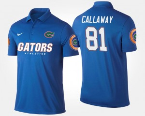 For Men #81 Florida Gators Antonio Callaway College Polo Blue