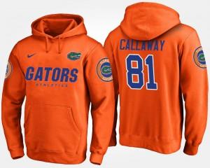 Orange Florida Gator Antonio Callaway College Hoodie #81 Men's