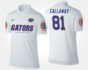 Florida White #81 For Men Antonio Callaway College Polo