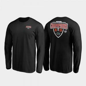 Hometown Lateral Long Sleeve College T-Shirt 2019 Orange Bowl Champions Mens Black University of Florida