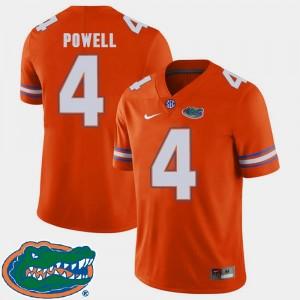Mens #4 2018 SEC Florida Gators Orange Football Brandon Powell College Jersey