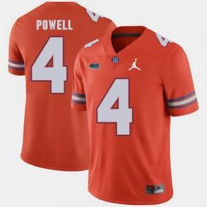 Orange Florida Gator Brandon Powell College Jersey Mens Jordan Brand Replica 2018 Game #4