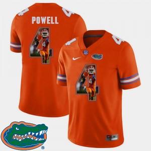 Mens Orange Pictorial Fashion Football #4 Brandon Powell College Jersey Florida
