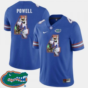 Pictorial Fashion Royal #4 Florida Gator Football Mens Brandon Powell College Jersey