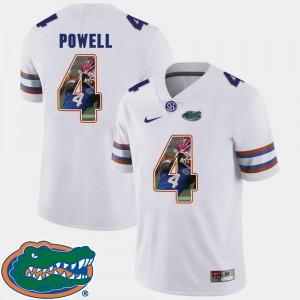 Pictorial Fashion For Men Florida Gators Football Brandon Powell College Jersey White #4