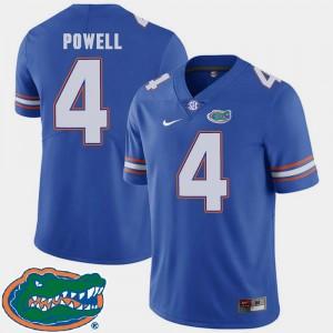 Men #4 Brandon Powell College Jersey Football Florida Gators Royal 2018 SEC