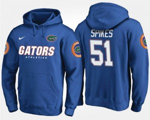 For Men University of Florida Brandon Spikes College Hoodie Blue #51