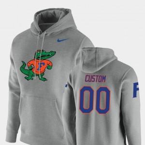 College Custom Hoodie UF #00 Heathered Gray Vault Logo Club Pullover For Men's
