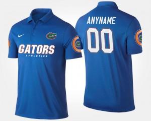 #00 College Customized Polo Gator Men's Blue