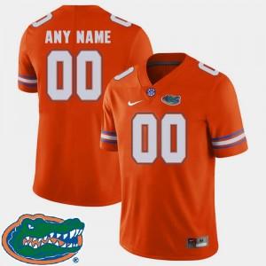 2018 SEC Orange Football For Men's College Custom Jerseys #00 Florida