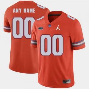 For Men's Orange Jordan Brand College Custom Jerseys Replica 2018 Game #00 Florida Gator
