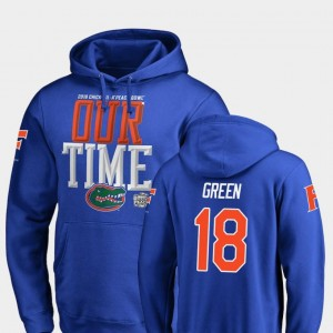 Counter #18 Florida Royal For Men 2018 Peach Bowl Bound Daquon Green College Hoodie