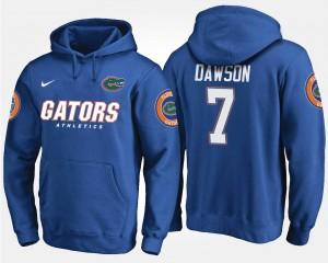 Gator #7 For Men's Duke Dawson College Hoodie Blue