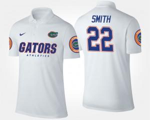 Florida Gators #22 Mens Emmitt Smith College Polo White
