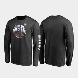 2019 Orange Bowl Bound For Men College T-Shirt UF Heather Charcoal Neutral Stiff Arm Long Sleeve