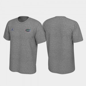 Heathered Gray For Men Gator College T-Shirt Left Chest Logo Legend