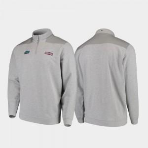 UF For Men's College Jacket Shep Shirt Quarter-Zip Heathered Gray