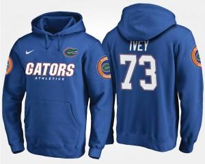 #73 Martez Ivey College Hoodie Blue Mens Gators
