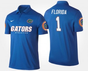 Blue Mens No.1 Short Sleeve #1 College Polo UF