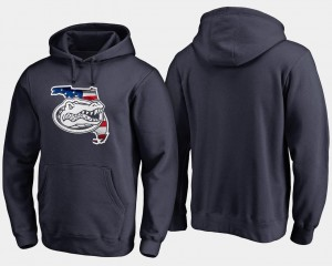 Banner State College Hoodie Mens Big & Tall Gator Navy